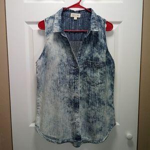 cloth & stone sleeveless stone washed top